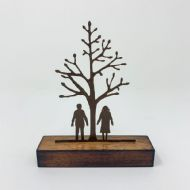 David Mayne 'Couple by Tree Miniature' Steel Sculpture